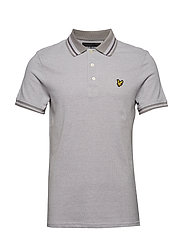 Oxford Tipped Polo Shirt - DOLPHIN GREY
