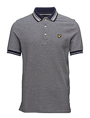 Oxford Tipped Polo Shirt - NAVY
