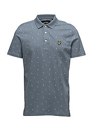 Beachball Print Polo Shirt - MIST BLUE