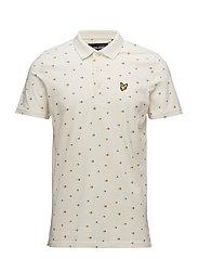 Beachball Print Polo Shirt - SEASHELL WHITE