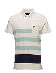 Wide Stripe Polo Shirt - SEASHELL WHITE