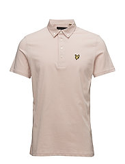 Woven Collar Polo Shirt - DUSTY PINK