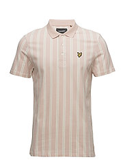 Deckchair Stripe Polo Shirt - DUSTY PINK