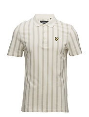 Deckchair Stripe Polo Shirt - SEASHELL WHITE