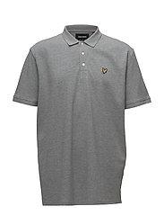 Plain Polo Shirt - MID GREY MARL