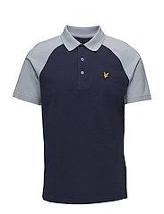 Raglan Polo Shirt - NAVY