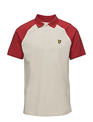 Raglan Polo Shirt - SEASHELL WHITE