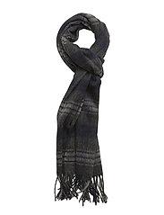 Woven Lyle & Scott tartan scarf - MID GREY MARL