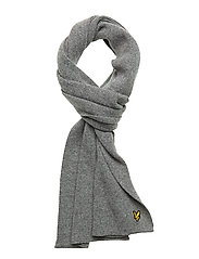 Racked rib scarf - GREY