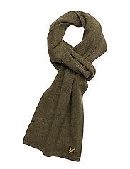 Racked rib scarf - MOSS GREEN