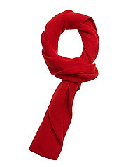 Racked rib scarf - TOMATO RED