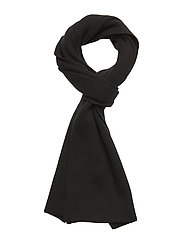 Racked rib scarf - TRUE BLACK