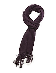 Plain lambswool scarf - DEEP PLUM