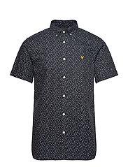 SS Print Shirt - DARK NAVY MICRO TILE PRINT