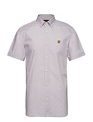 SS Print Shirt - LILAC MICRO TILE PRINT