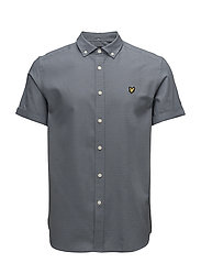 SS Multi Coloured Running Stitch Shirt - MIST BLUE