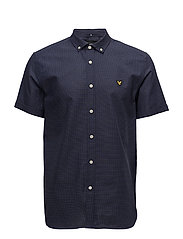 SS Multi Coloured Running Stitch Shirt - NAVY