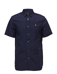 SS Textured Stripe Shirt - NAVY