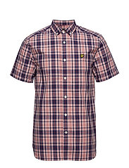 SS Check Shirt - CORAL WAY