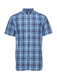 SS Check Shirt - CORNFLOWER BLUE