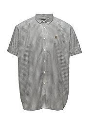 SS Gingham Shirt - MIST BLUE