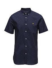SS Micro Print Shirt - NAVY
