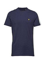 Side Stripe  T-shirt - NAVY
