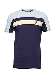 Colour Block T-Shirt - NAVY