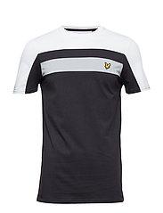 Colour Block T-Shirt - TRUE BLACK