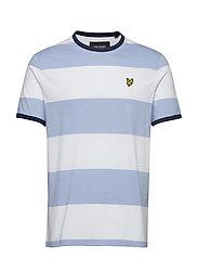 Wide Stripe Ringer T-Shirt - BLUE SMOKE