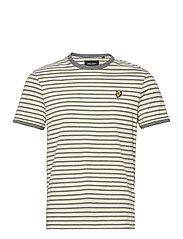 Stripe Ringer T-Shirt - LEMON/ MID GREY MARL