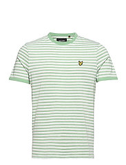 Stripe Ringer T-Shirt - SEA MINT/ LIGHT GREY