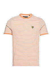 Stripe Ringer T-Shirt - STONEWASH PINK/ MELON