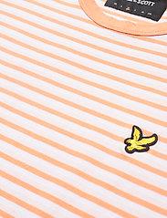 Lyle & Scott - Stripe Ringer T-Shirt - t-shirts à manches courtes - stonewash pink/ melon - 2