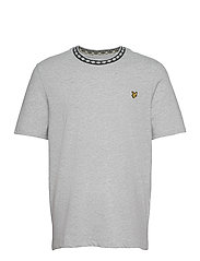 Argyle Rib T-Shirt - LIGHT GREY MARL