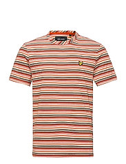 Multi Stripe T-Shirt - BURNT ORANGE