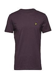 Crew Neck T-Shirt - DEEP PLUM