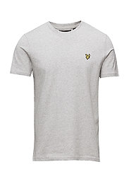 Crew Neck T-Shirt - LIGHT GREY MARL