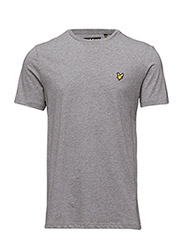 Crew Neck T-Shirt - MID GREY MARL