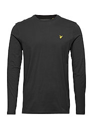 LS Crew Neck T-shirt - JET BLACK