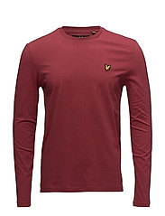LS Crew Neck T-shirt - RED MARL