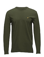 LS Crew Neck T-shirt - WOODLAND GREEN