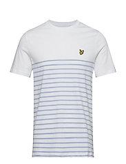 Breton Stripe T-Shirt - WHITE/BLUE SMOKE
