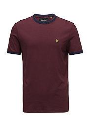 Ringer T-Shirt - CLARET JUG