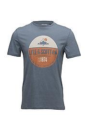 Graphic Print T Shirt - MIST BLUE