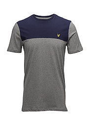Yoke T-shirt - MID GREY MARL