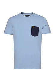 Contrast Pocket T Shirt - FRESH BLUE/ NAVY