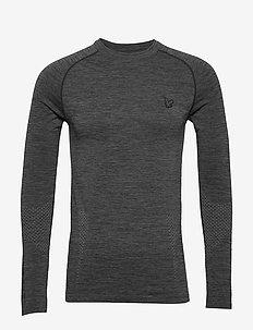 Black Ten Seamless Baselayer - podstawowe koszulki - true black