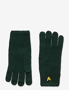 Racked rib gloves - handsker & vanter - jade green