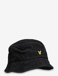 Cord Bucket Hat - bucket hats - true black